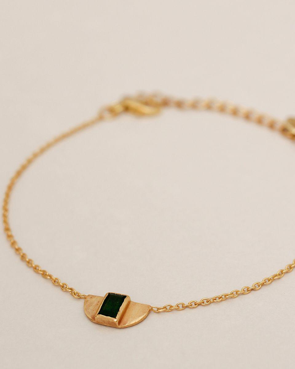 g bracelet egypt green zed gold plated