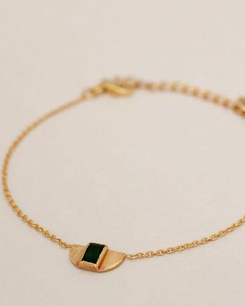 G- bracelet egypt green zed gold plated
