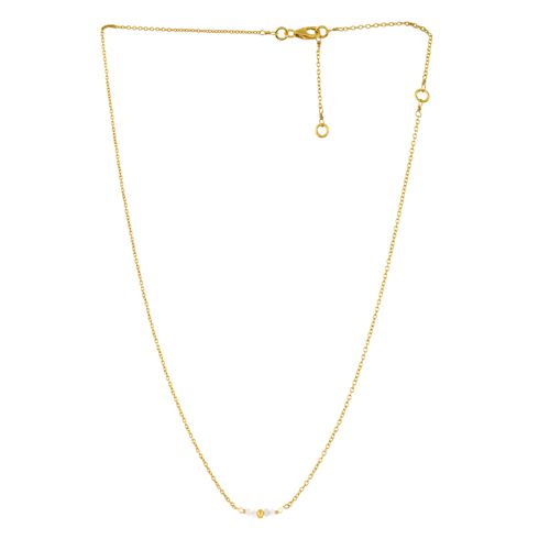 gcollier 4 little 2mm white moonst gold plated