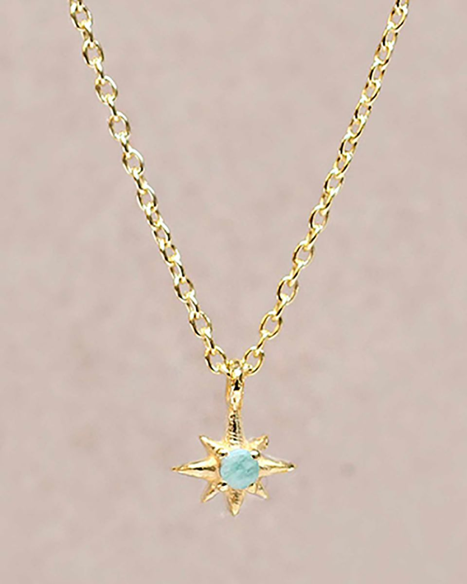 gcollier amazonite star gold plated 55cm