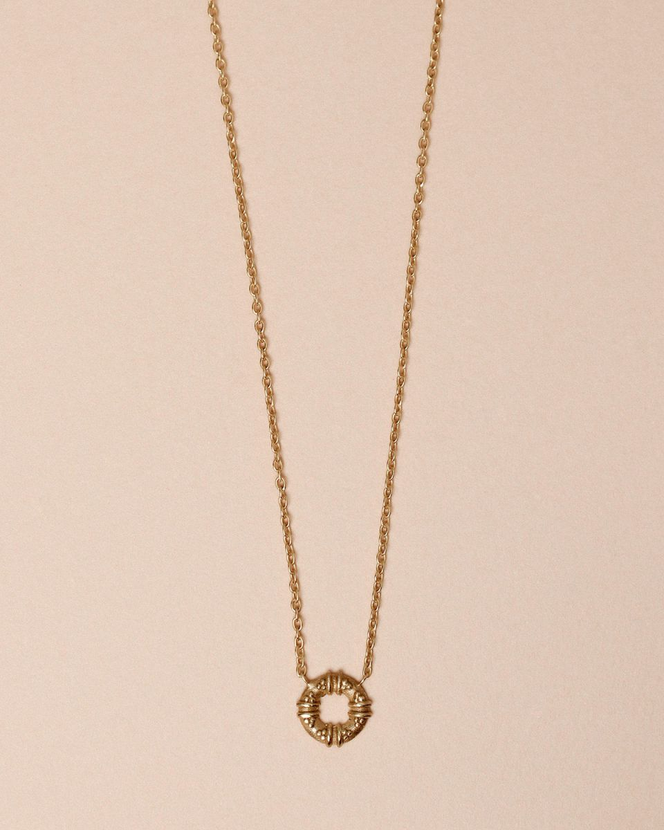 g collier maori circle gold plated