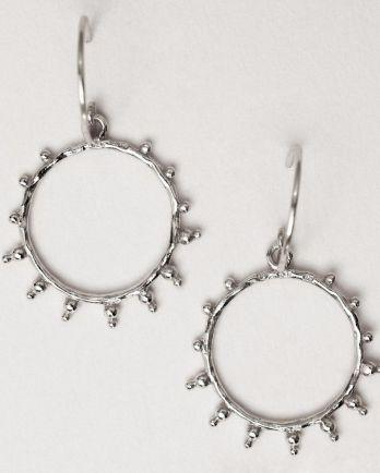 Earring hanging handcraft hoop sun