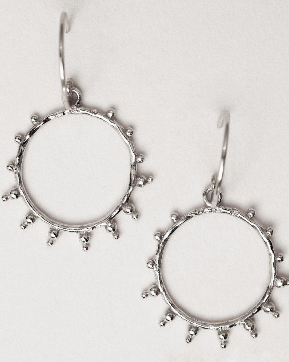 g earring handcraft hoop sun