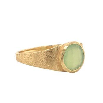 g ring size 54 8mm prenite signet gold plated