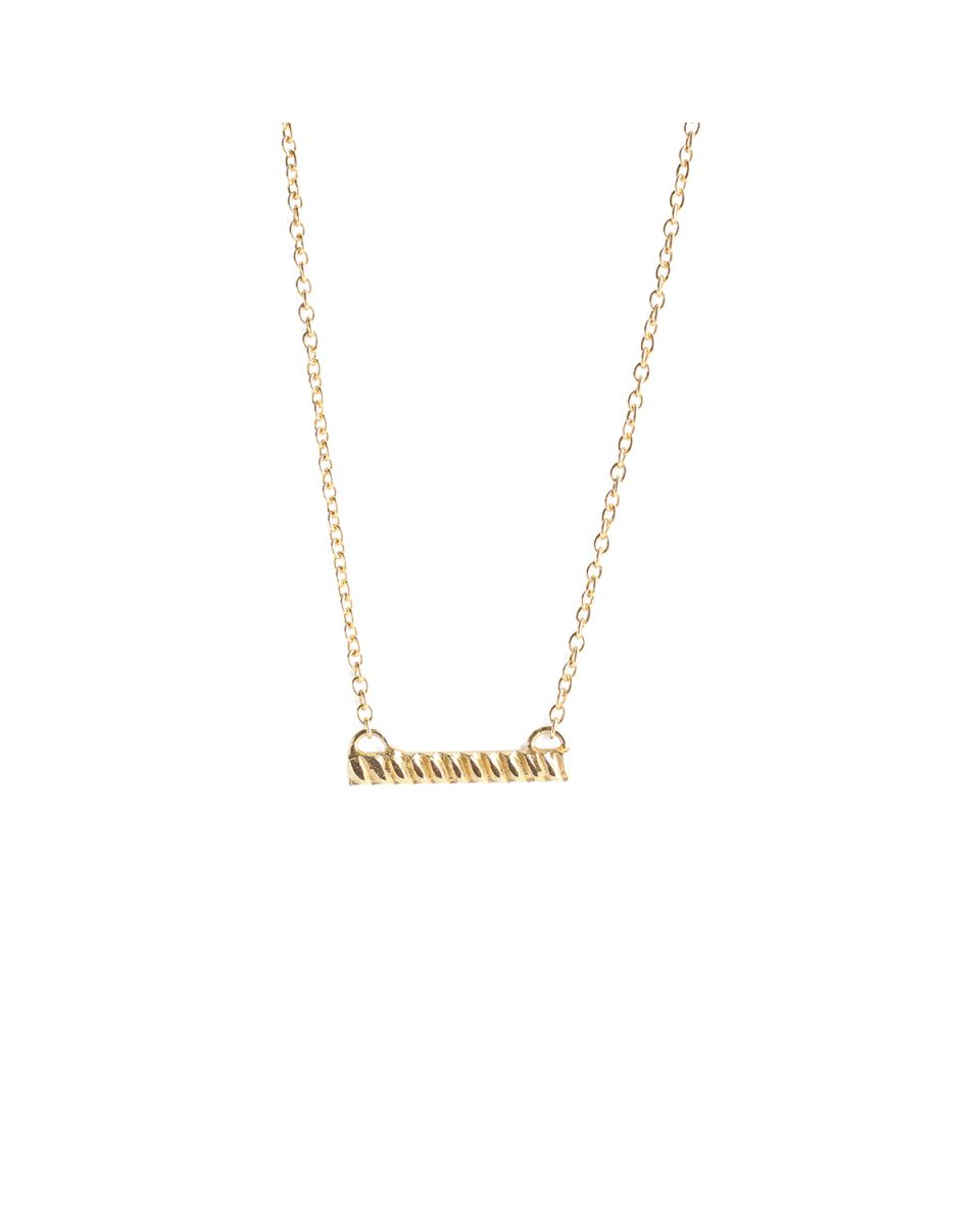 h collier braided bar gold plated
