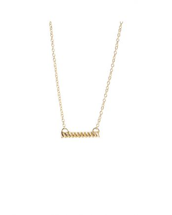 H- collier braided bar gold plated