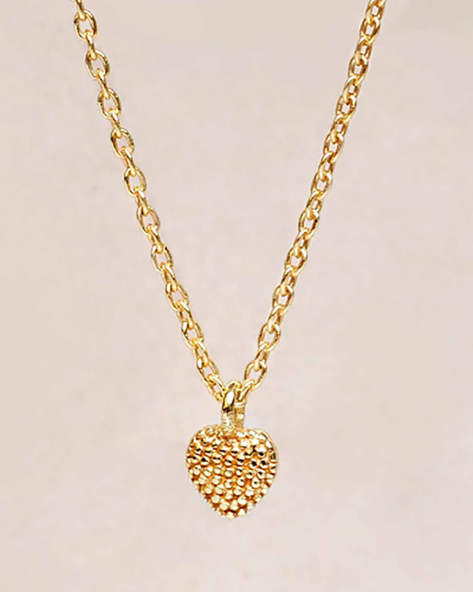 hcollier heart 5mm gold plated 55cm