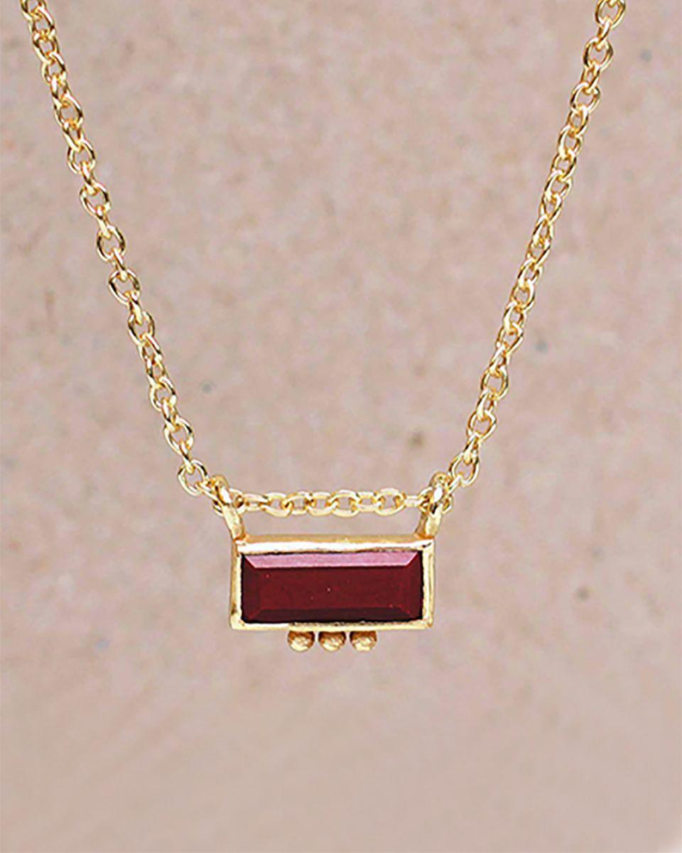 hcollier red jasper rectangle three dots 3x8 g pl 45cm