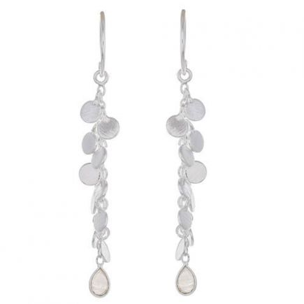 Earring hanging coins and drop