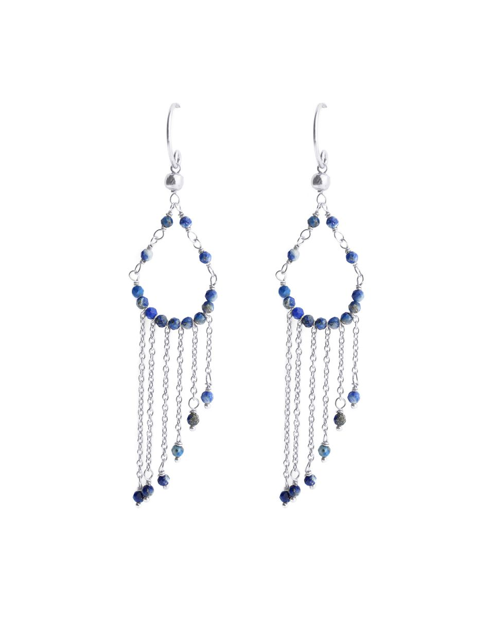 h earring hippie beads lapis