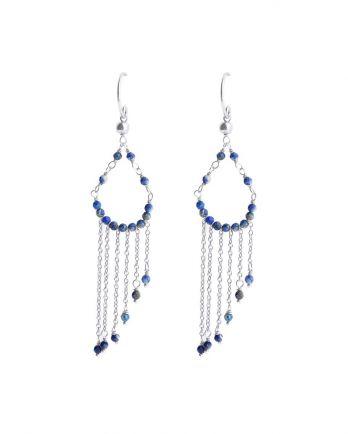H- earring hippie beads lapis