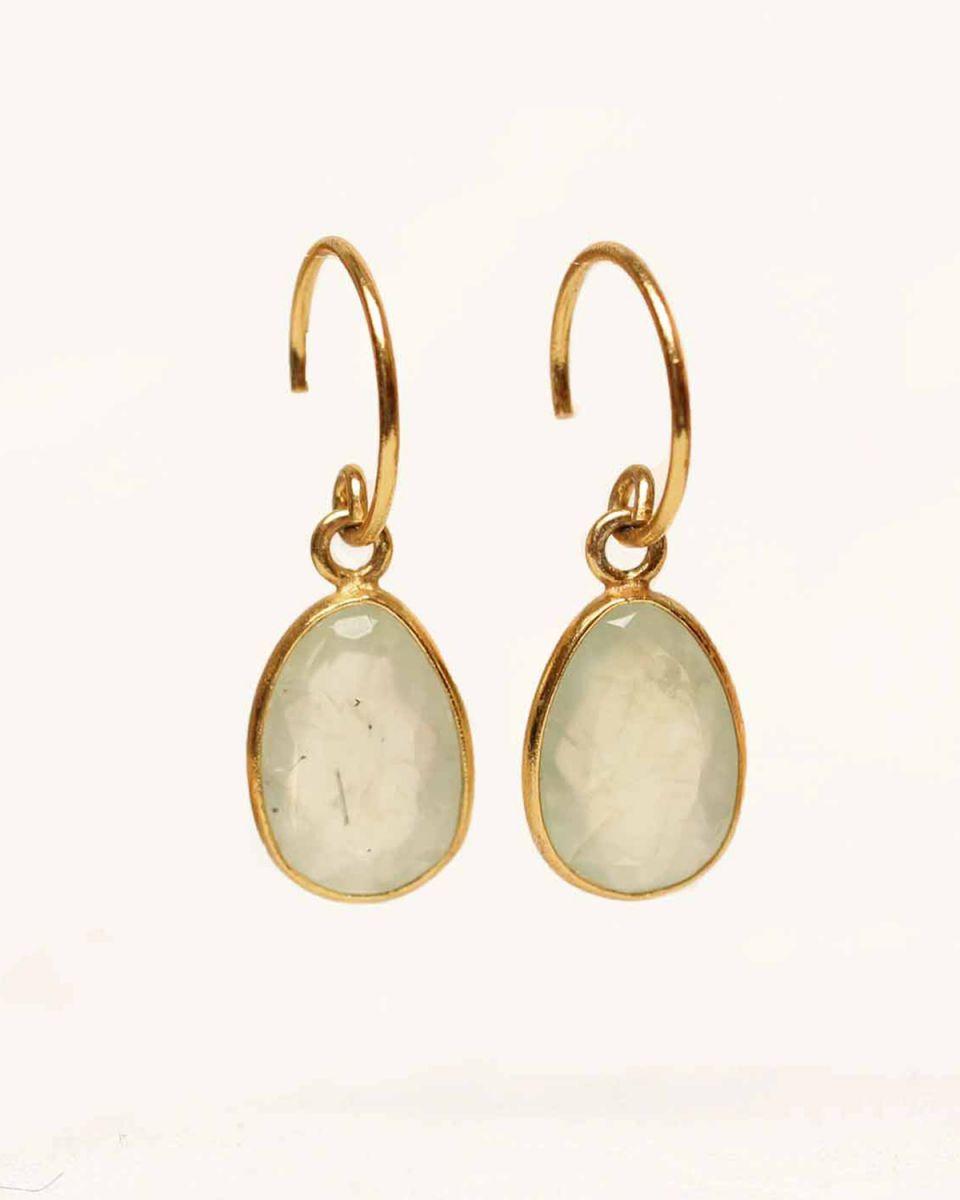 h earring medium drop prenite gold plated