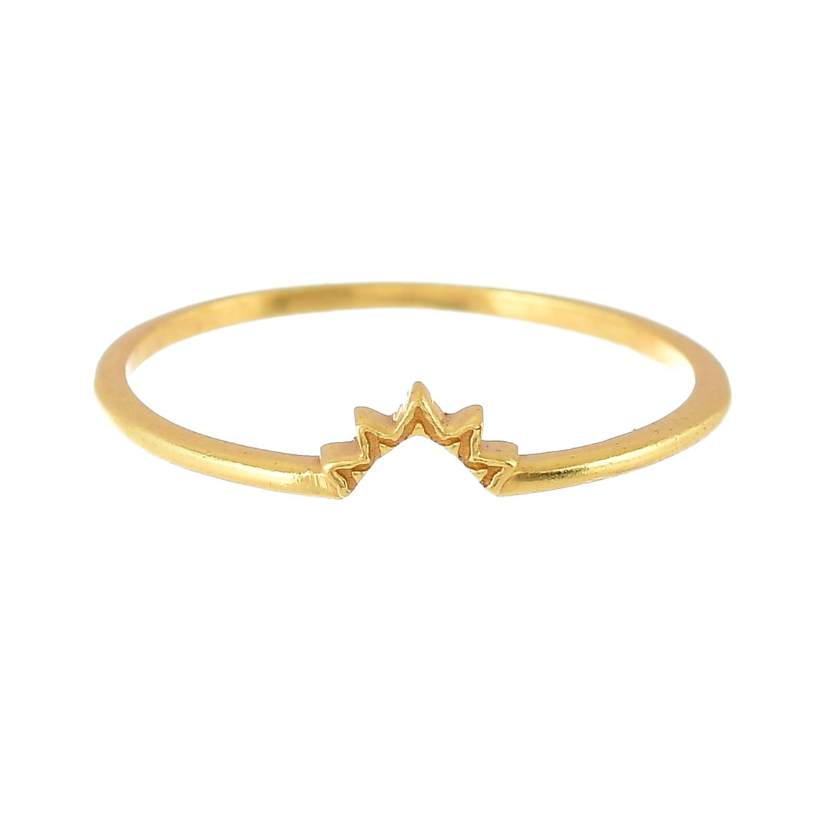 h ring size 52 triangle nefrite set of 2 gold plated