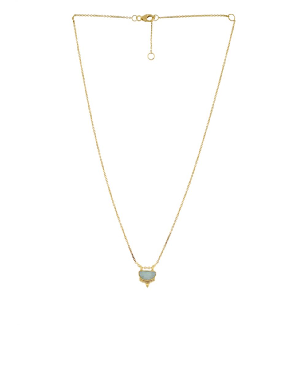 icollier etnic moon with amazonite gold plated