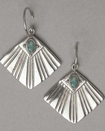 I- earring flabellate gem amazonite
