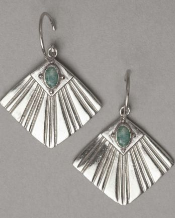 I- earring flabellate gem amazonite