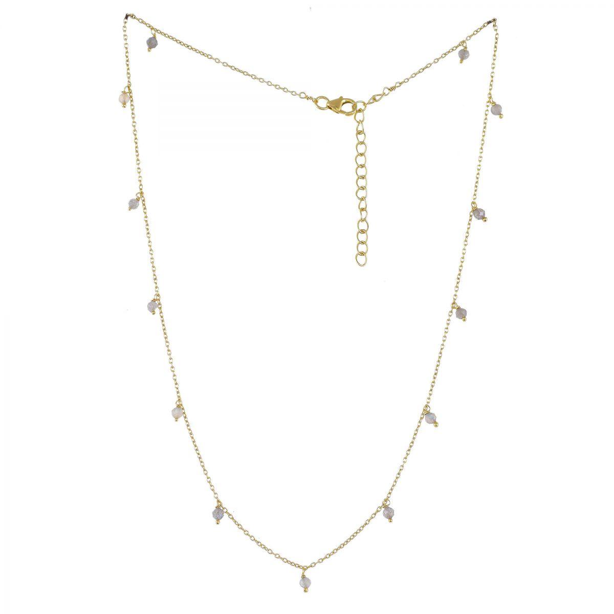 jcollier 3mm labradorite beads 45cm gold plated