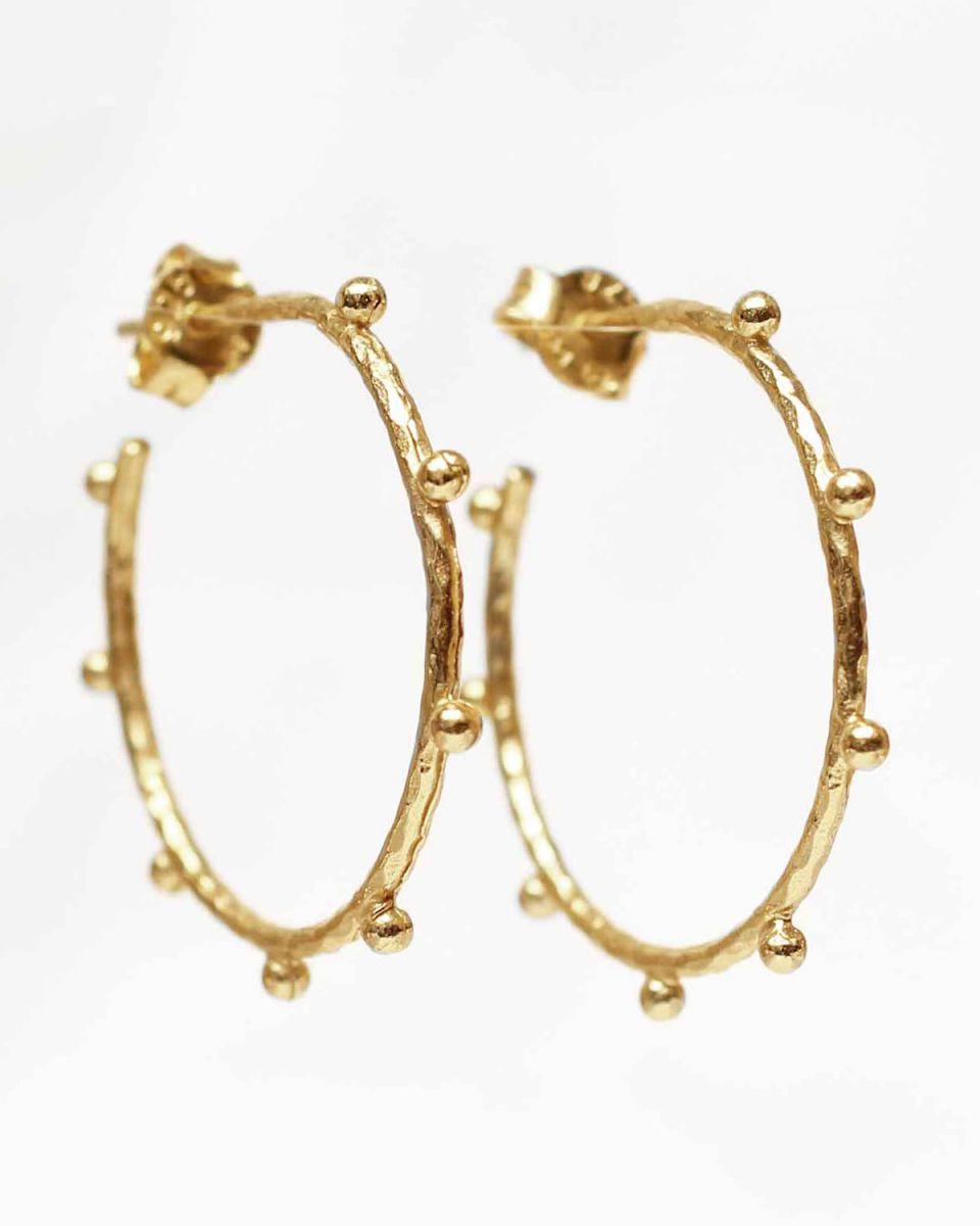 j earring 28mm handcraft hoop gold plated