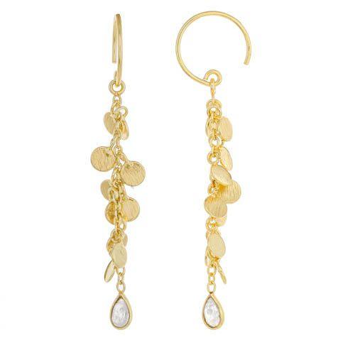 jearring coins and moonstone gold plated
