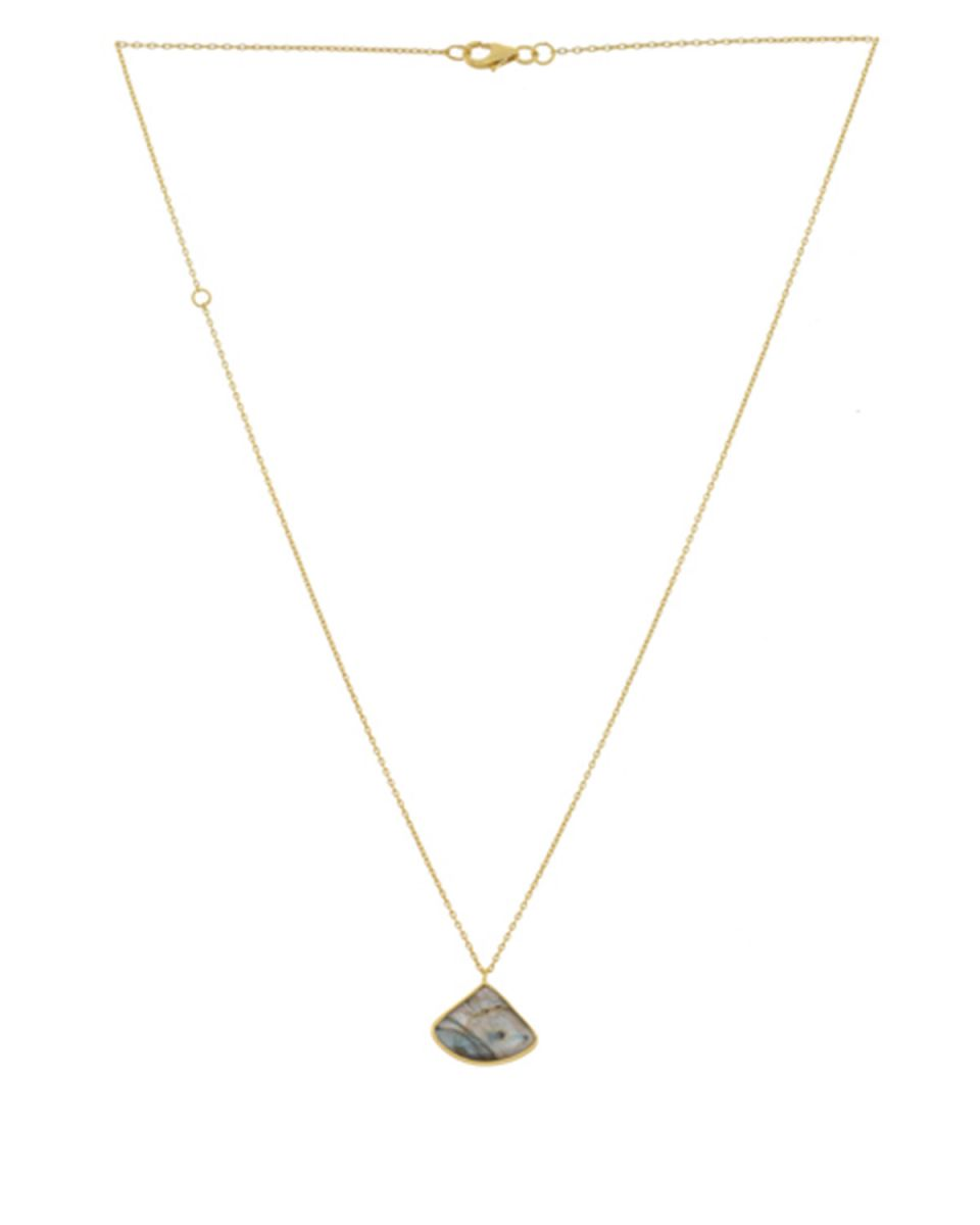 kcollier fancy labadorite 55cm gold plated
