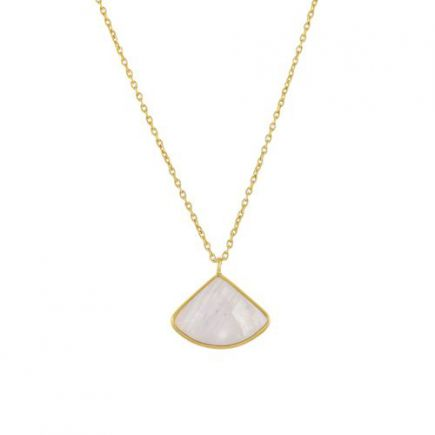 K-collier fancy moonstone 55cm gold plated