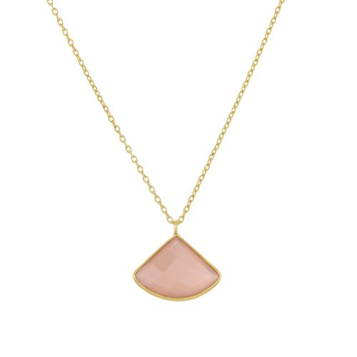 kcollier fancy peach moonstone 55cm gold plated