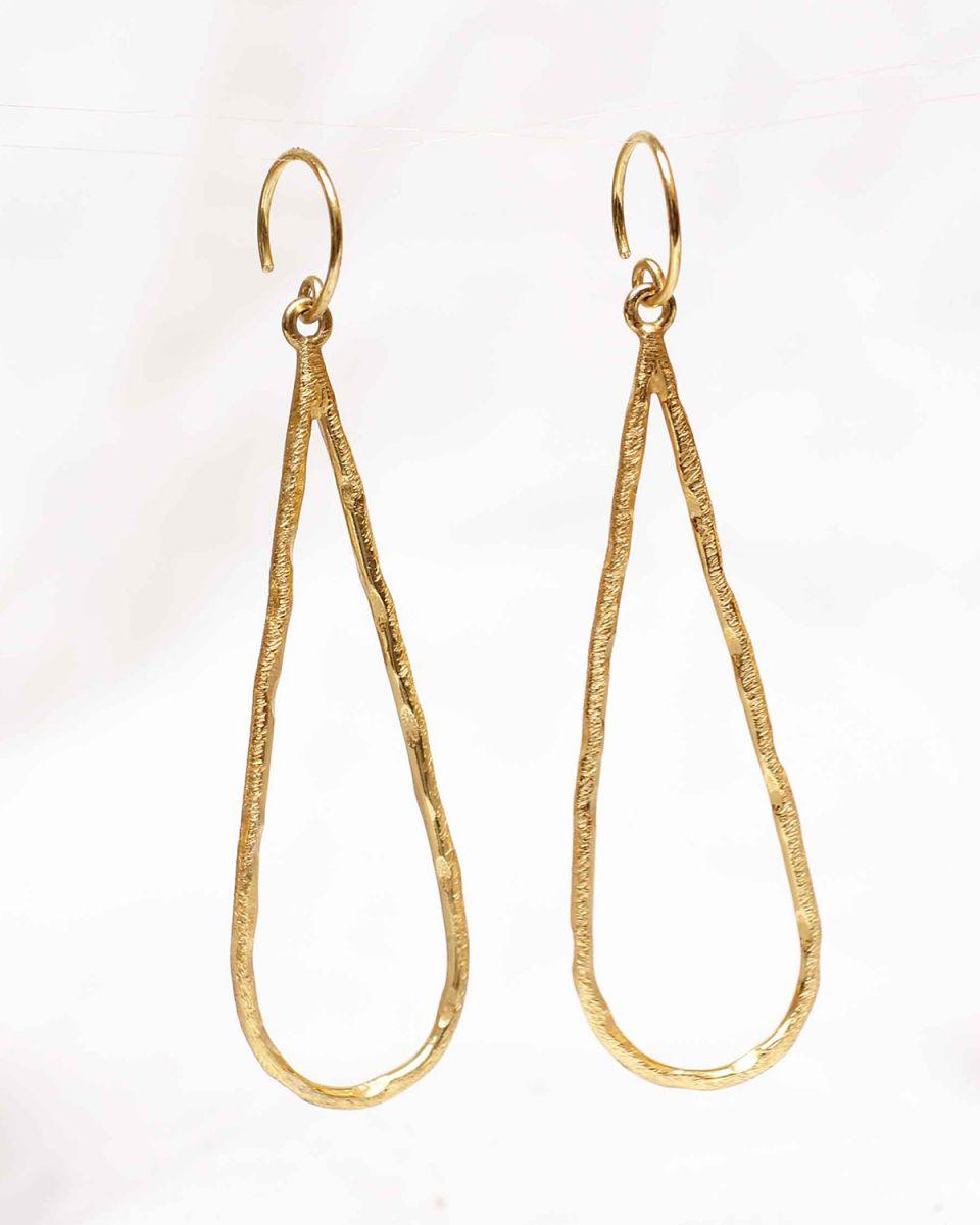 k earring long drop gold plated