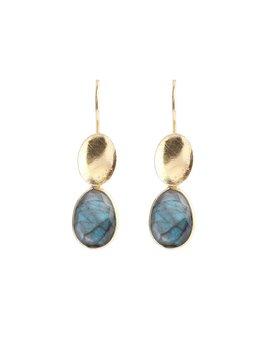 m earring max drops labradorite gold plated