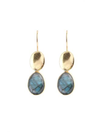 M- earring max. drops labradorite gold plated